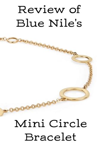review of Blue Nile's mini circle bracelet