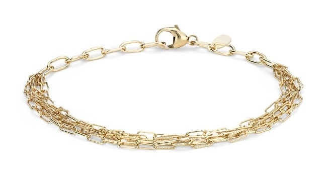 Delicate Five Row Gold Bracelet