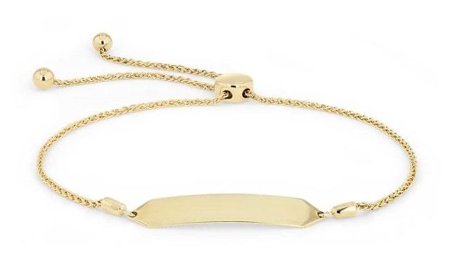 Gold Engravable Bolo Bracelet