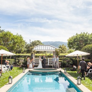 garden wedding in st helena