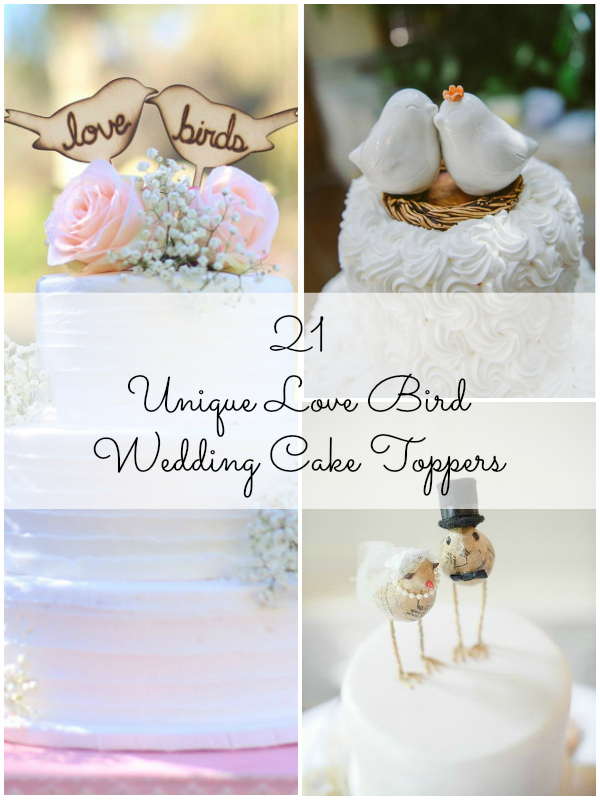 21 unique love bird wedding cake toppers 21 unique love bird themed wedding cake toppers1 junglespirit Image collections