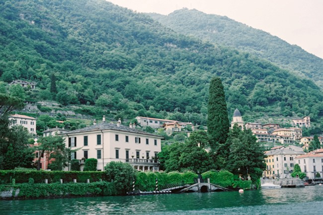 Villa Del Balbianello on Lake Como taken from the water