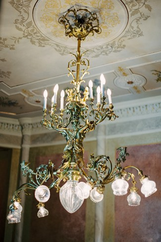 Chandelier at Villa Flori
