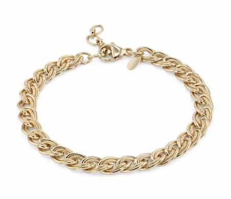 Adjustable Double Link Bracelet by blue nile