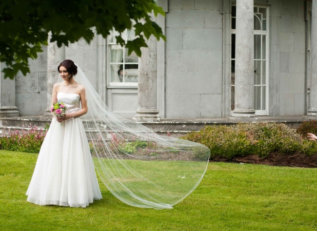 Floor length veil from classic veils