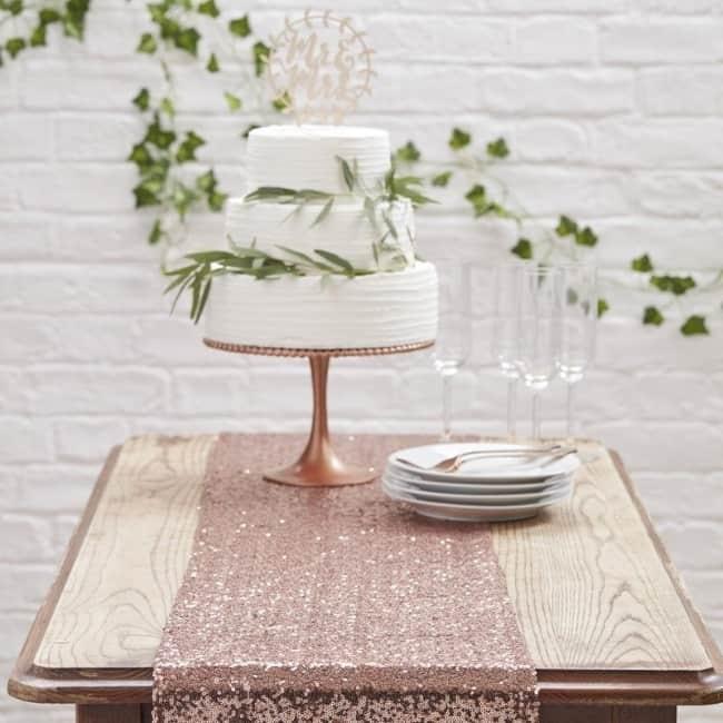 Glitter Table Runner for wedding reception