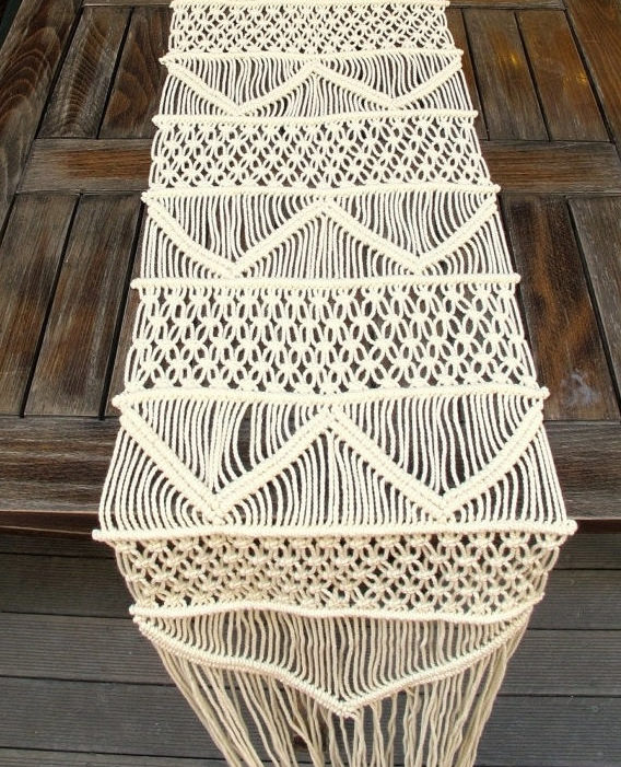 Handwoven Macrame Table Runner