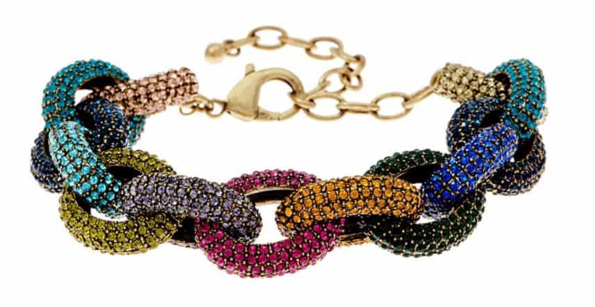 LOGO Links Lavish Pave Links Bracelet