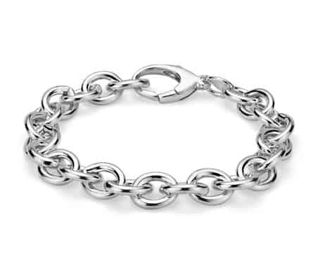 Large Cable Chain Bracelet by blue nile