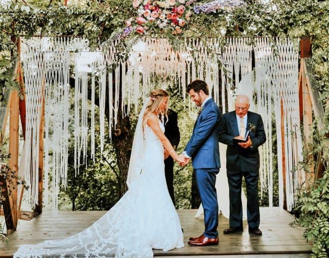 Macramé Wedding Photo Backdrop