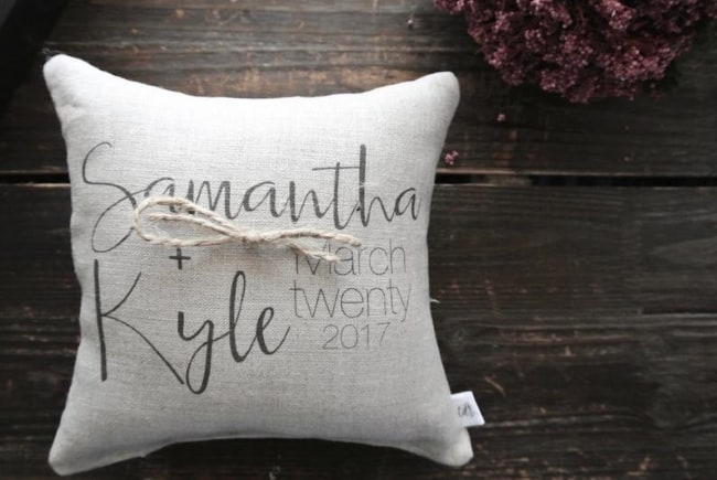 ring bearer pillow from Etsy