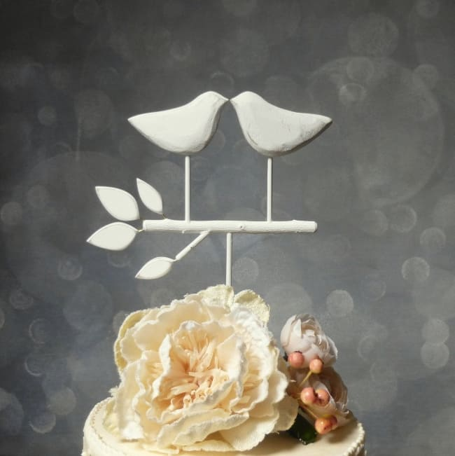 Rustic Bird on perch themed Cake Topper
