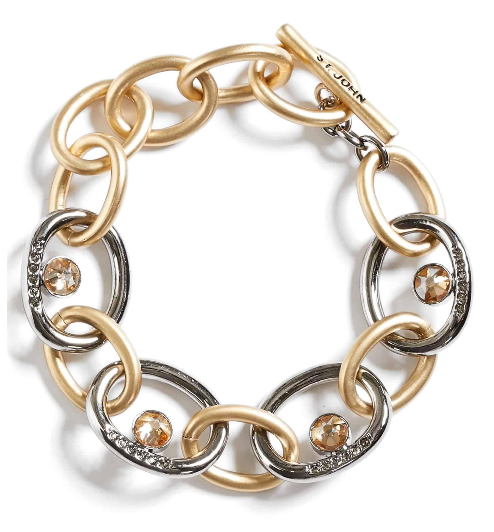 Swarovski Crystal & Metal Chain Bracelet