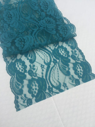 TEAL GREEN Lace Table Runner