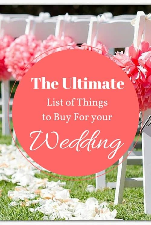 The Ultimate List of Things to Buy for Wedding
