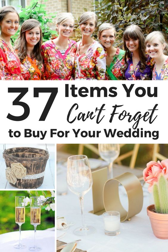 37 wedding day decor items that even the best wedding planner could overlook until the last moment