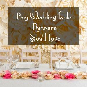 buy wedding table runners