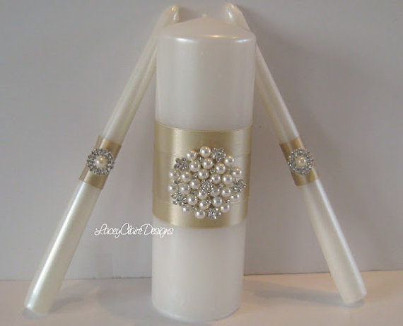 Unity candle set for wedding ceremony