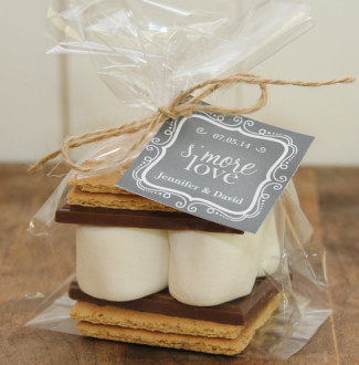 S'mores for wedding favors