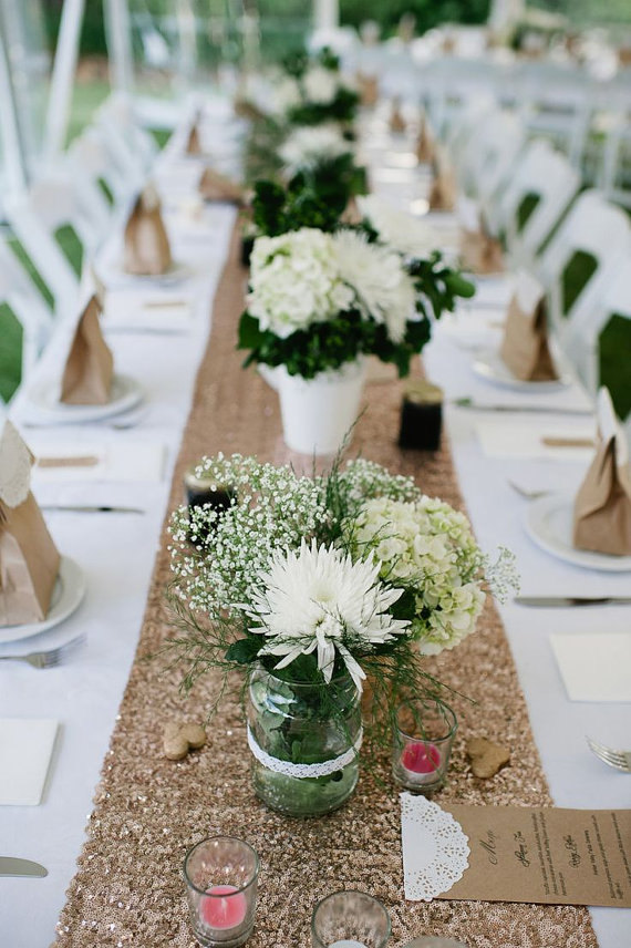 Glitter Wedding Table Runner