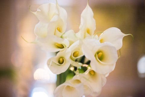 Bridal bouquet of white lilies created by Contemporary Floral