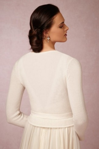 Ivory wrap from BHLDN