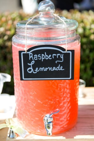Raspberry Lemonade for outdoor wedding reception