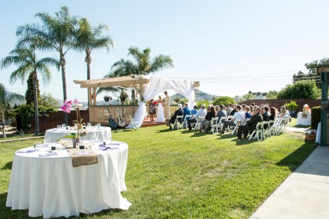Intimate Backyard Wedding in El Cajon