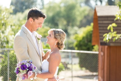 Bride and groom captured by Cavin Elizabeth Photography