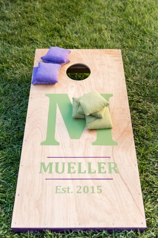 Bean bag toss for wedding reception