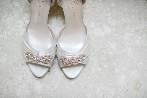 Ivanka Trump peep toe bridal heels