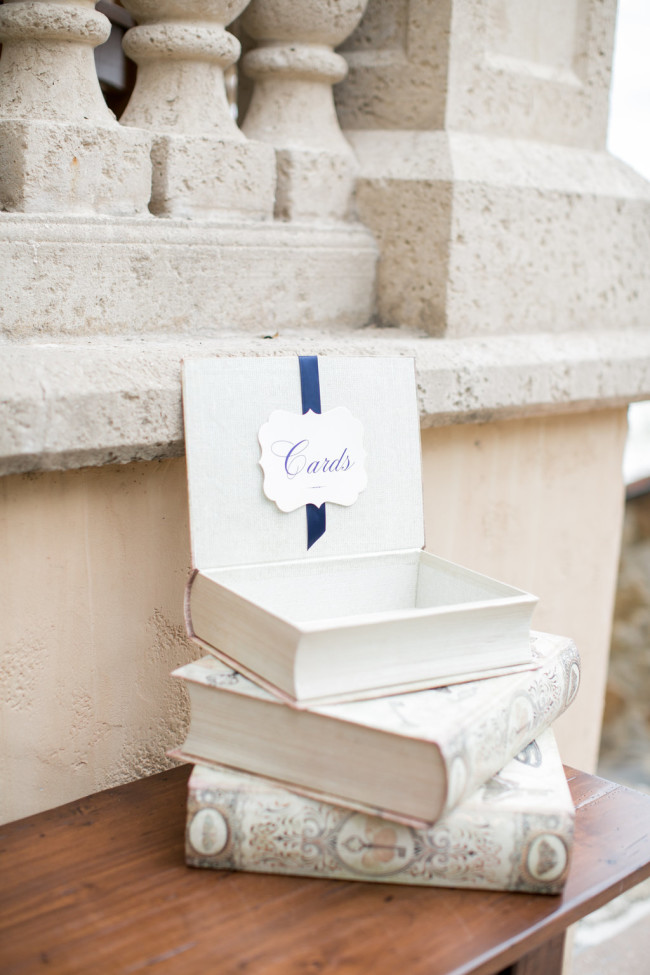 Book themed wedding card holder