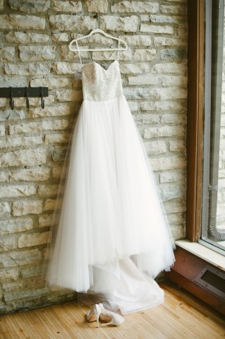 strapless sweet heart neckline wedding gown by Eve of Milady