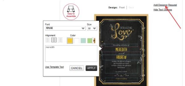 WPD edit invite sample