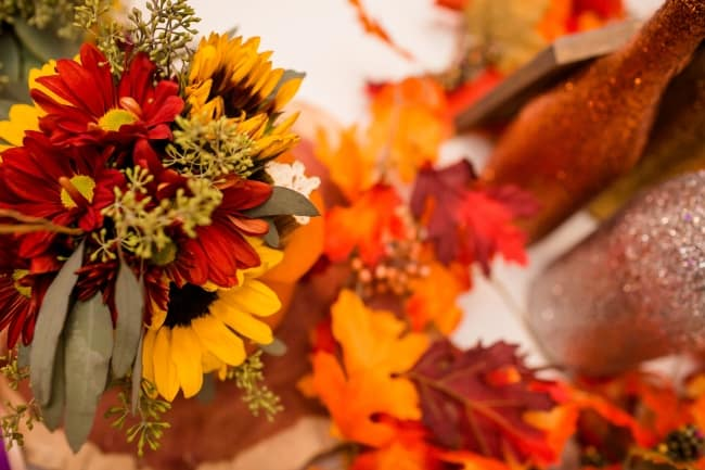 colorful fall wedding colors