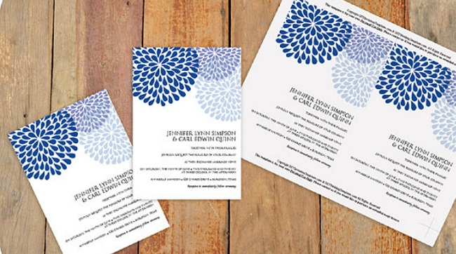 example of downloadable wedding stationery suite