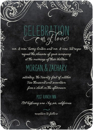 how to buy wedding invitations with a $200 budget Wedding Paper Divas Ombre Forest chalk celebration from wedding paper divas ($153 30) Wedding Dresses