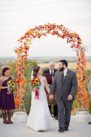 Outdoor fall themed wedding created by Crystal Occasions