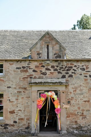 Wedding ceremony at Tyninghame Village Hall in Scotland