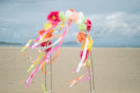Scottish Beach Festival Inspired Wedding