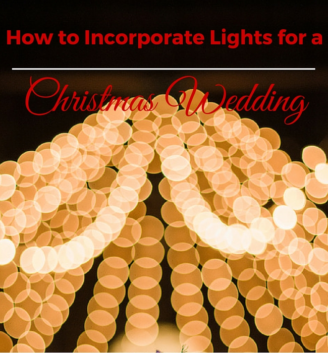 How to Decorate a Christmas wedding with lights - image