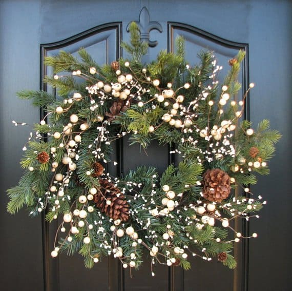 Winter wedding decor christmas wreath