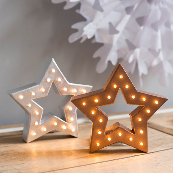 large lite-up star lanters