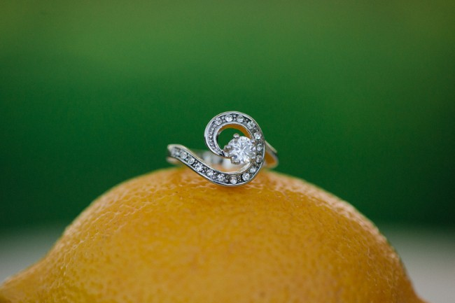 ring shot on real lemon