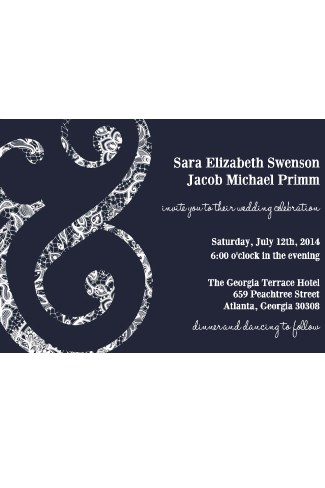 Ampersand Wedding Invitation