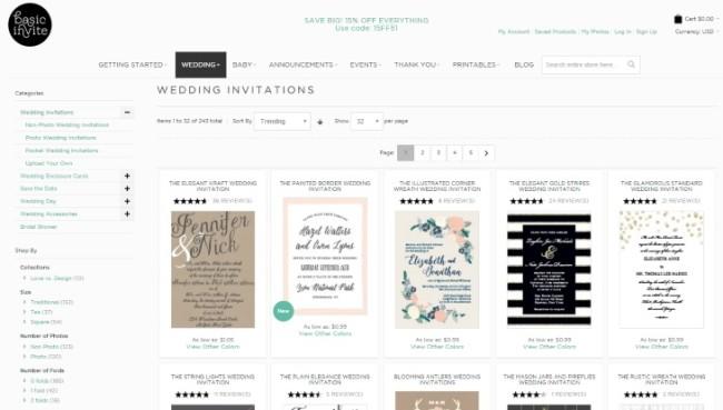 Basic Invite wedding stationery page