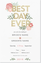 best day ever vista print wedding invitation