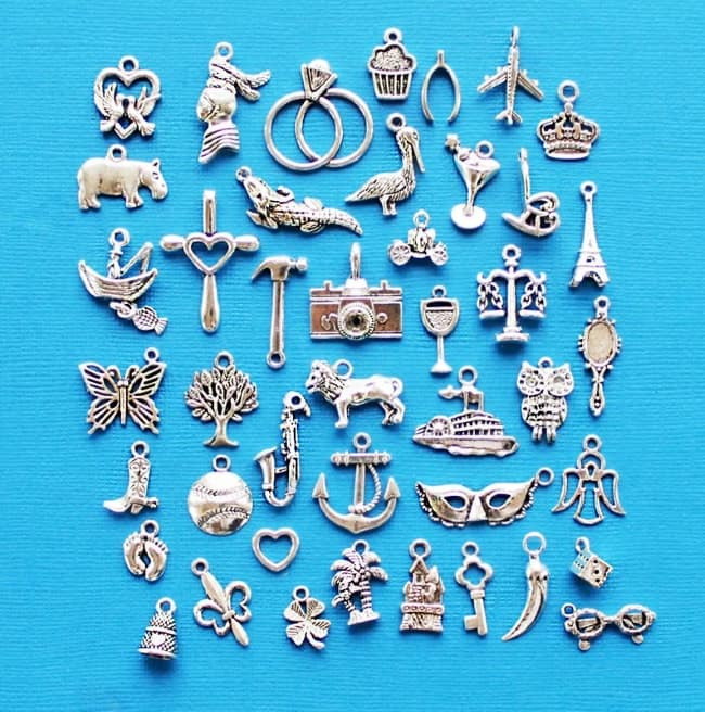 Cake pull charms for wedding cake pull tradition
