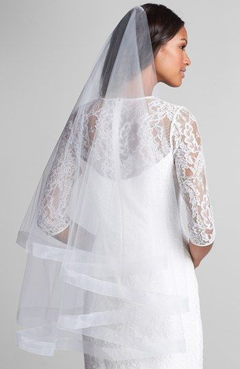 'Caroline' Circle Veil with Organza Trim