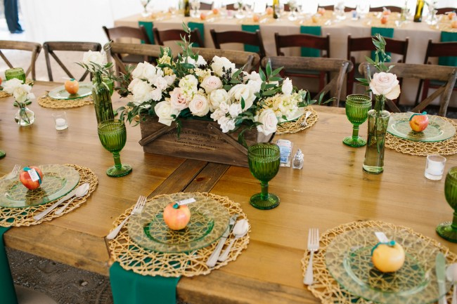 Cider themed wedding reception